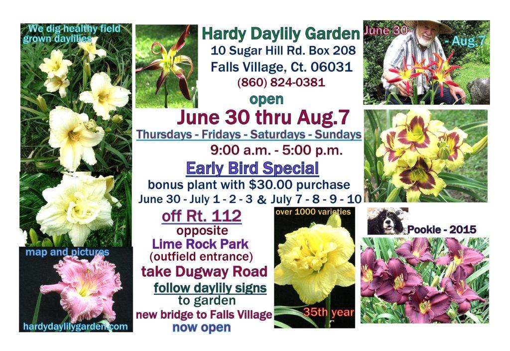 Hardy Daylily Garden 2016 Hours