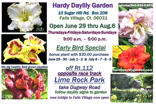 Here Are The Hardy Daylily Garden 2017 Summer Hours
